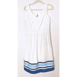 NWT Hannah Andersson Size 6 White Blue Dress